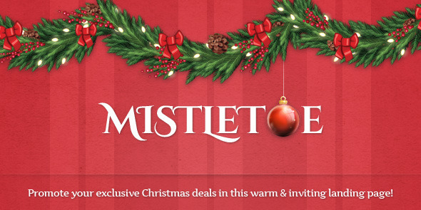 ThemeForest MistleToe A Christmas Special Landing Page 3584955