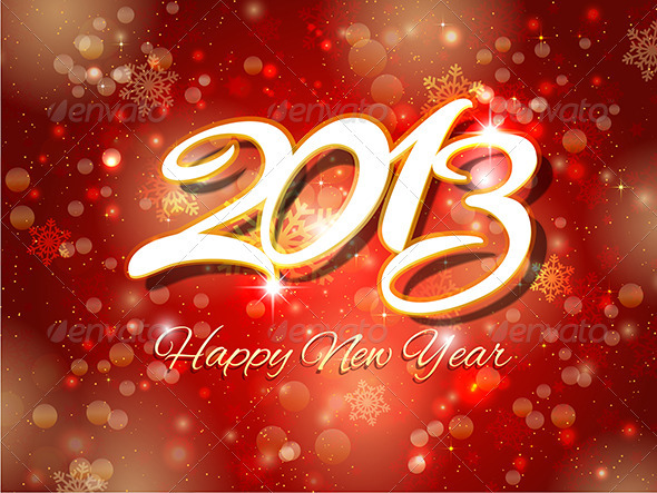 GraphicRiver New Year Background 3588819