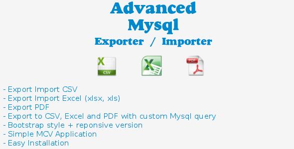 CodeCanyon Advanced Mysql Exporter Importer 3588889