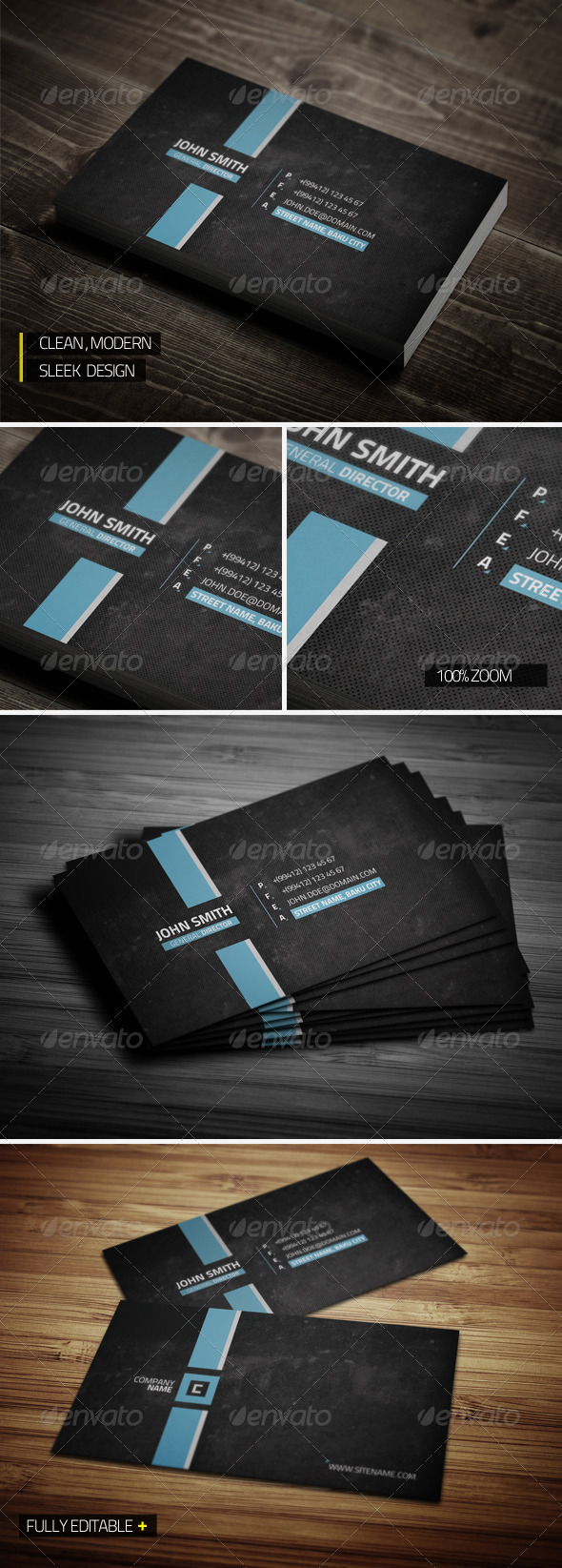 GraphicRiver Clean Modern Business Card 3588890