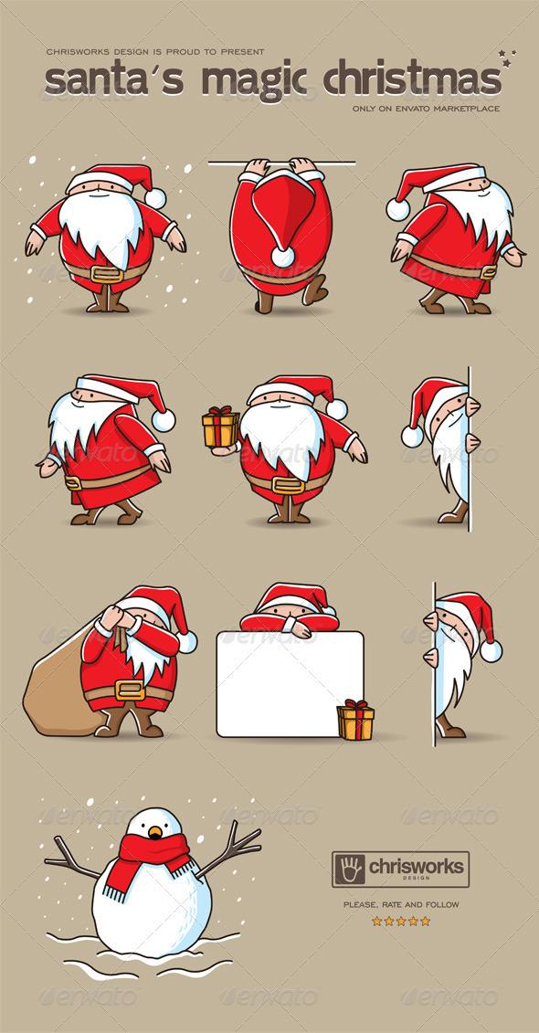 Santa's Magic Christmas - Christmas Seasons/Holidays