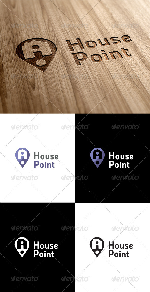 GraphicRiver House Point Locator Logo 3547682