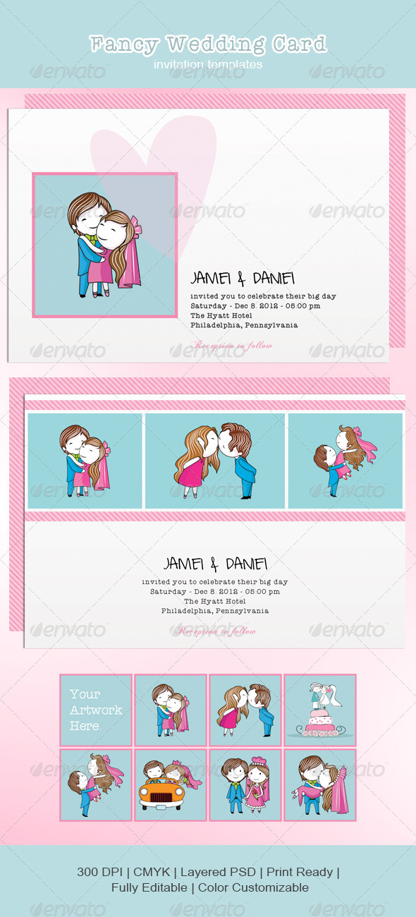 GraphicRiver Fancy Wedding Card 3545417