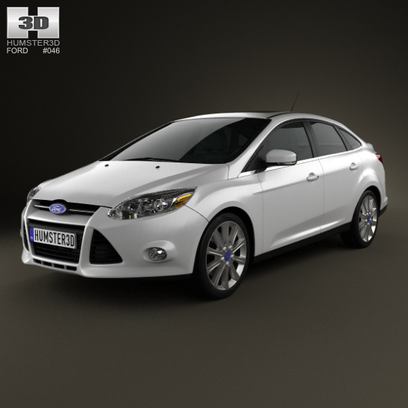 Ford Focus Sedan Titanium 2012 - 3DOcean Item for Sale