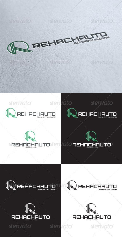 GraphicRiver Rehach Auto R Letter Logo 3549276