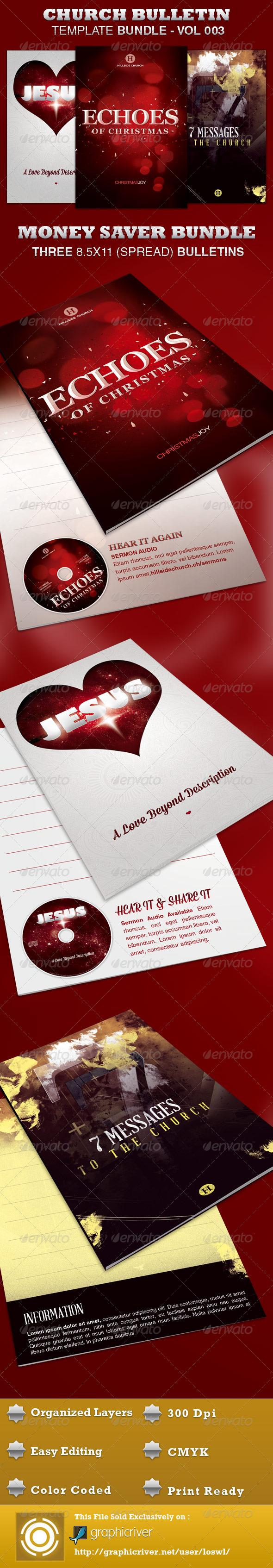Church Bulletin Template Bundle-Vol 003 - Informational Brochures