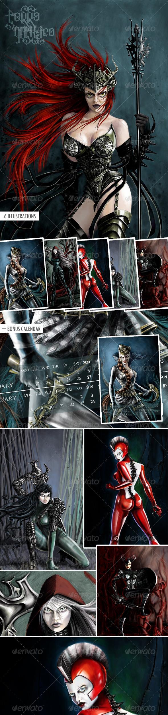 GraphicRiver Warrior Girls 3548945