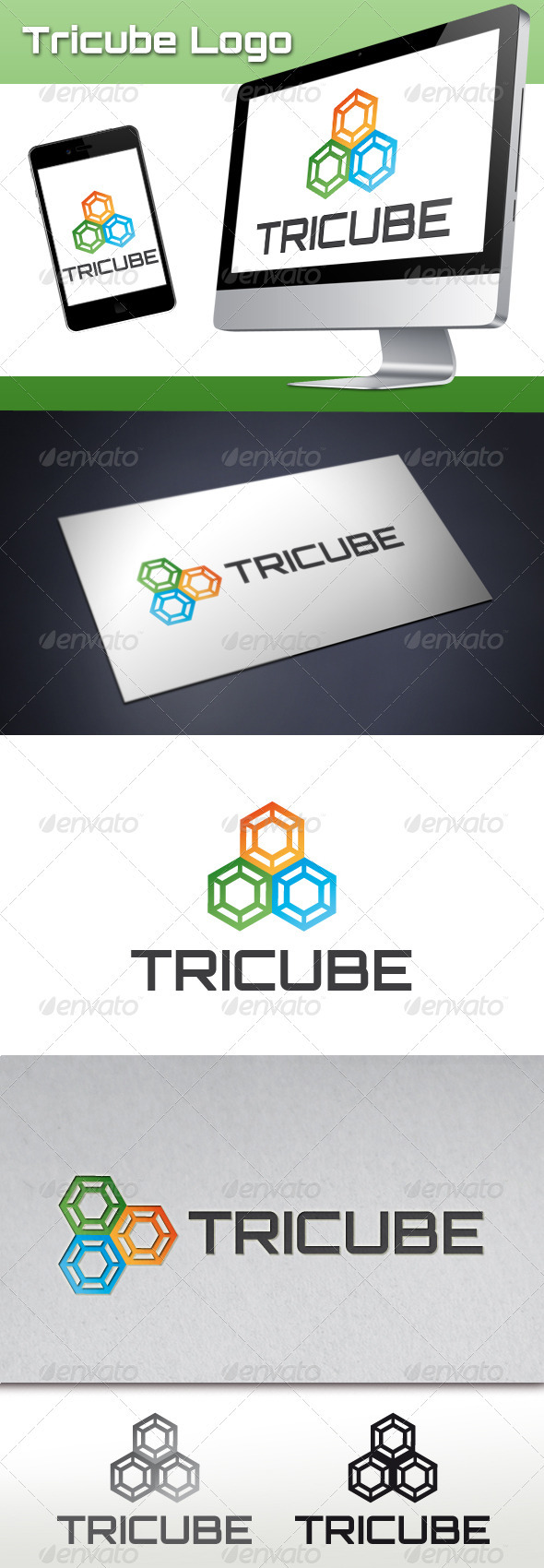 GraphicRiver Tricube Software Logo 3552818