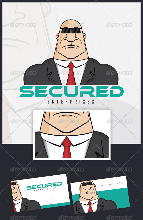 Secured Logo Template - Humans Logo Templates