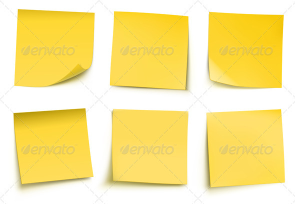 GraphicRiver Yellow Sticky Notes 3590131