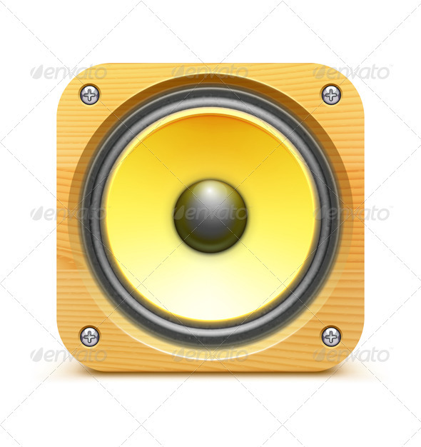GraphicRiver Sound Loud Speaker Icon 3590153