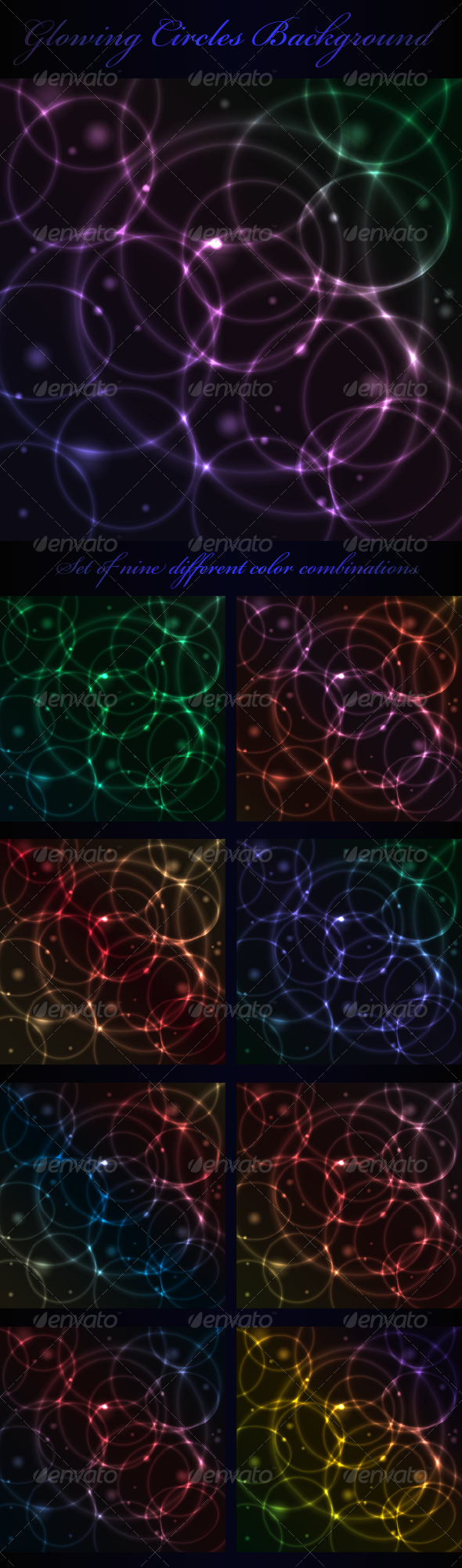 GraphicRiver Glowing Circles Background 3590278