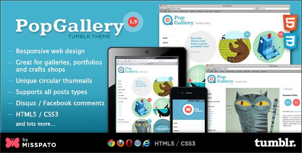 ThemeForest Pop Gallery Tumblr Theme 1556214