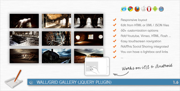 CodeCanyon Wall Grid Gallery jQuery Plugin 161458