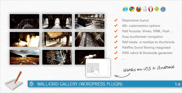 CodeCanyon Wall Grid Gallery WordPress Plugin 270895