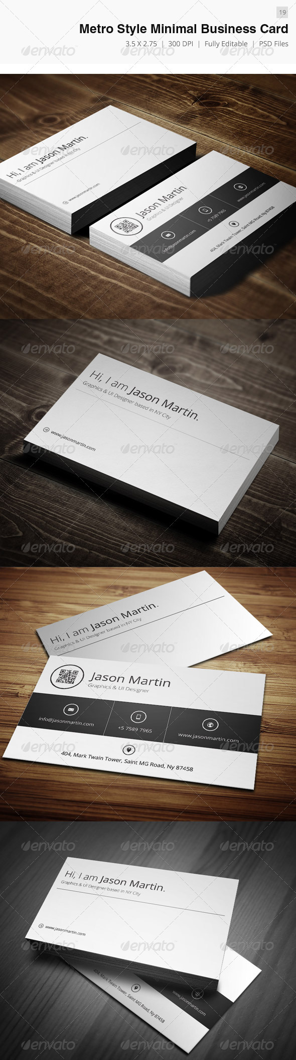 GraphicRiver Metro Style Minimal Business Card 19 3590492