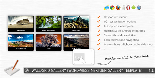 CodeCanyon Wall Grid Gallery WP NextGEN Gallery Template 2338182