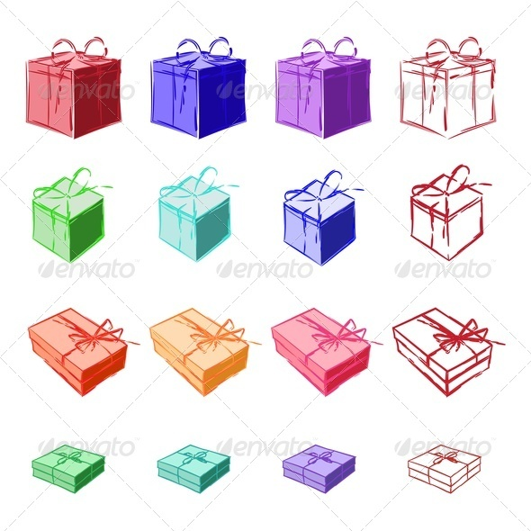 GraphicRiver Gift Boxes 3544740
