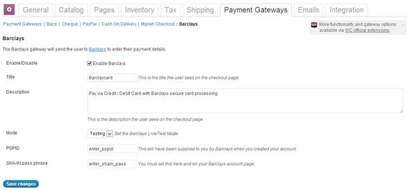 WooCommerce Barclays Payment Gateway - WorldWideScripts.net Artikel zum Verkauf
