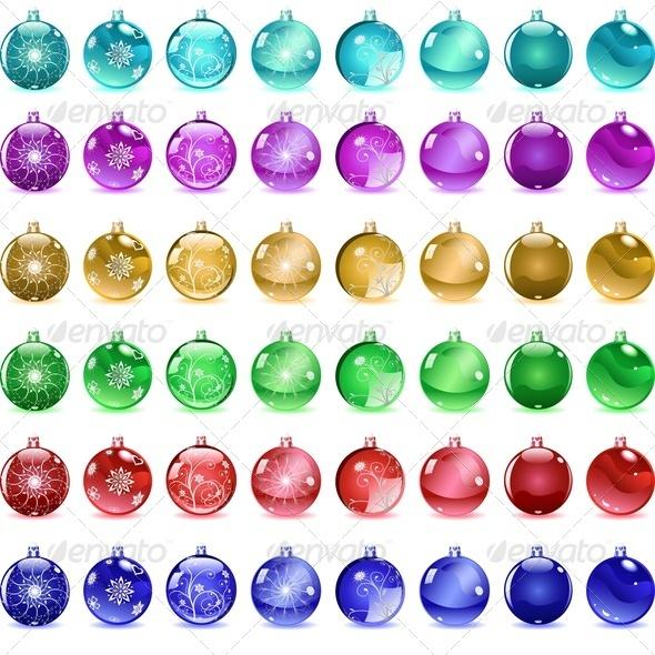 GraphicRiver Multicolored Christmas Balls 3544706