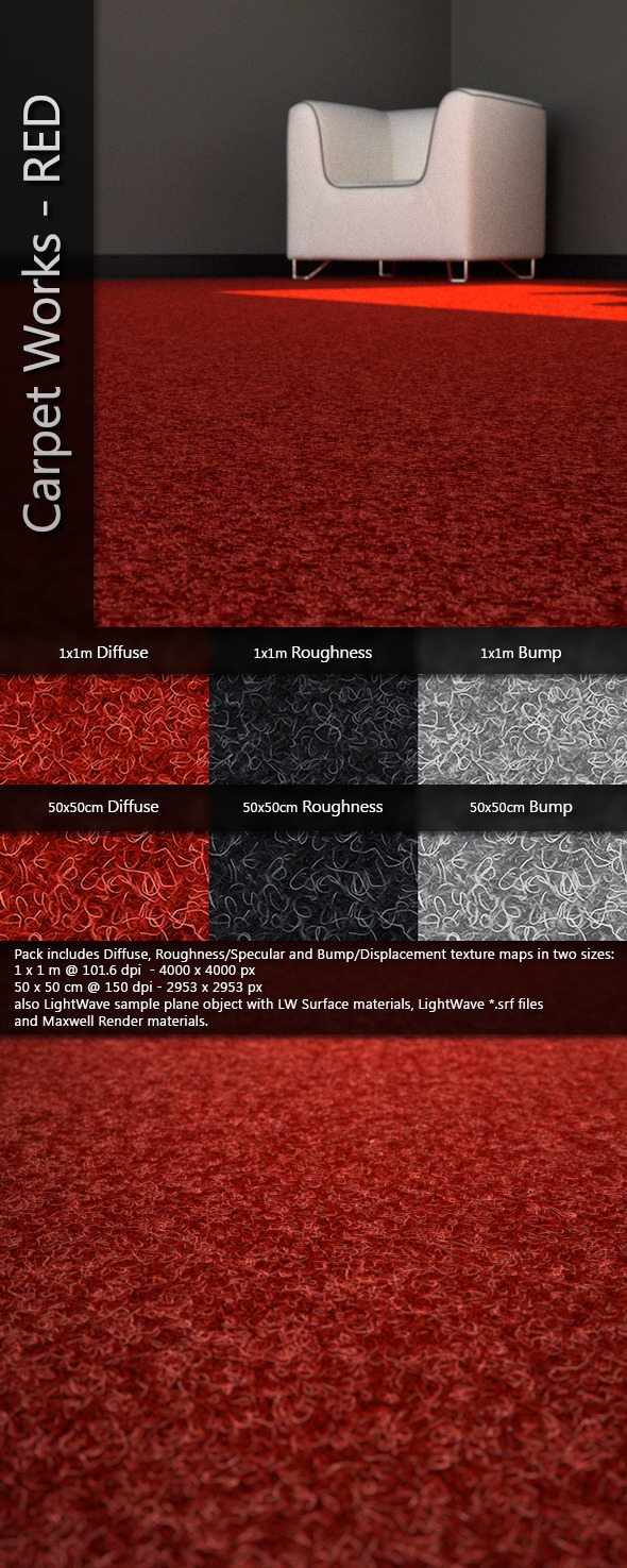 3DOcean AJD Carpet Works RED 3591508