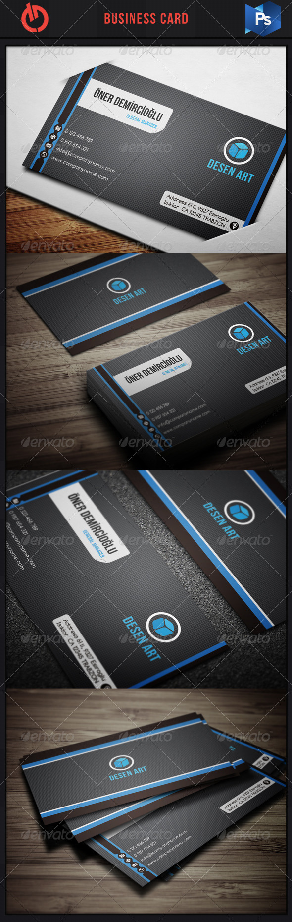 GraphicRiver Business Card 13 3591607