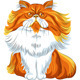 Vector Color Sketch Fluffy Persian Cat  - GraphicRiver Item for Sale