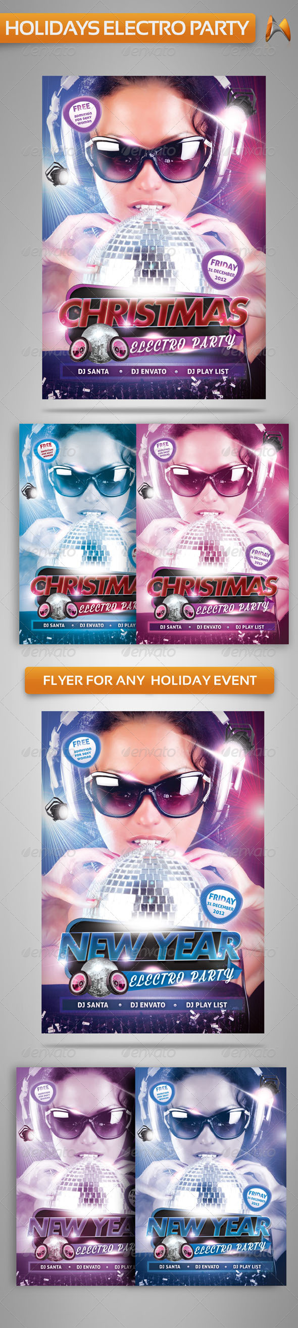 GraphicRiver Electro Party Flyer Template 3522590