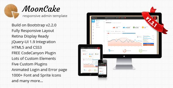 MoonCake - Responsive Admin Template - Admin Templates Site Templates
