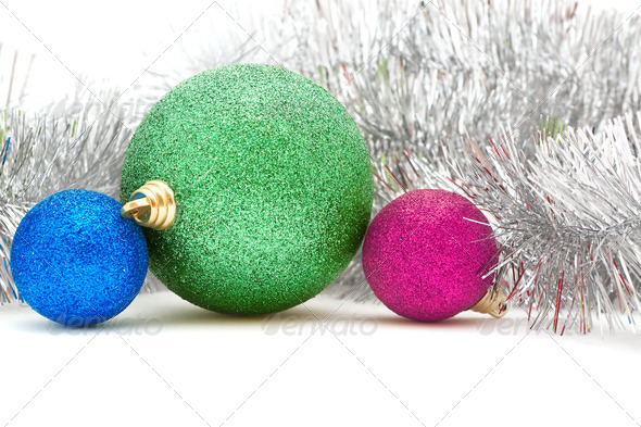 colored Christmas decorations - Stock Photo - Images