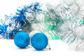 Christmas shiny  blue balls - PhotoDune Item for Sale