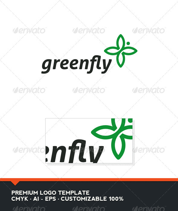 Green Fly Logo Template