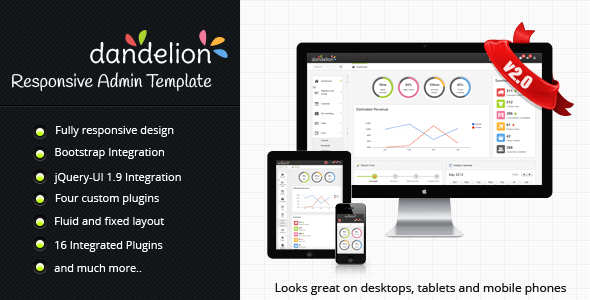 ThemeForest Dandelion Admin Responsive Admin Template 2392564