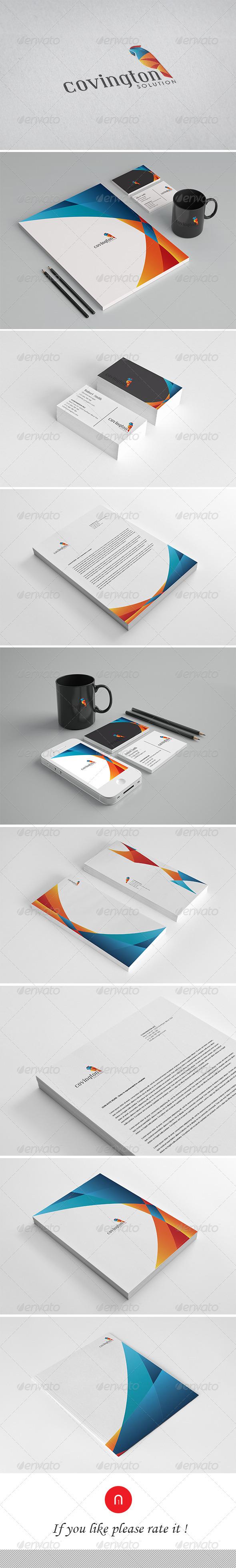 GraphicRiver Corporate Identity Convington Solution 3592654