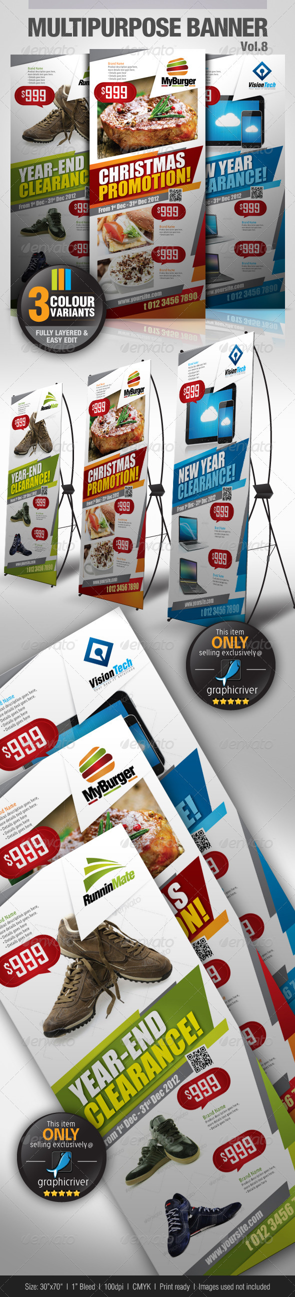 GraphicRiver Multipurpose Promotional Banner Vol.8 3592694