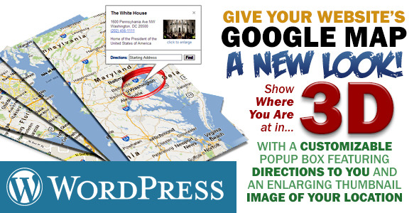3D Google Map with Social Links and Twitter Feed - CodeCanyon Item for Sale