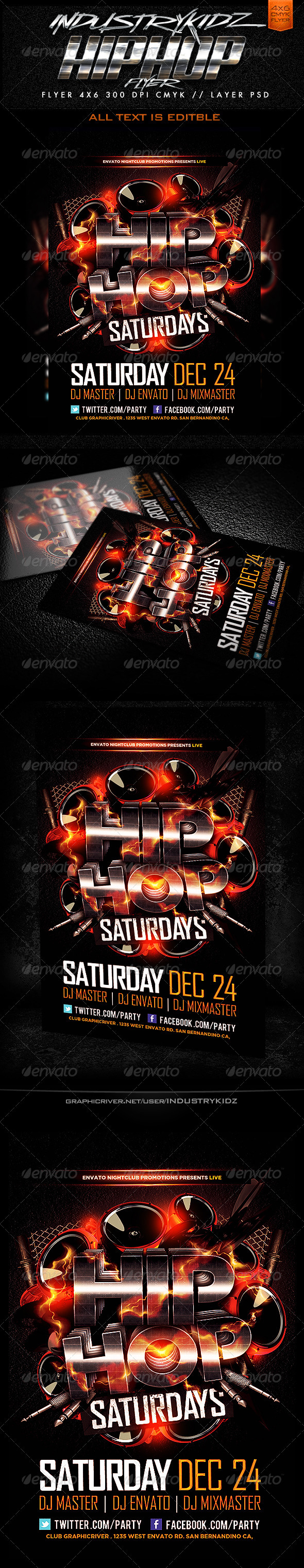 GraphicRiver Hip Hop Flyer Template 3593010