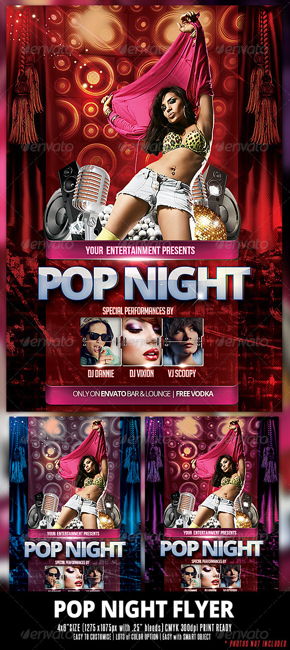 GraphicRiver Pop Night Flyer 3593038