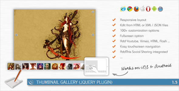 CodeCanyon Thumbnail Gallery jQuery Plugin 164050