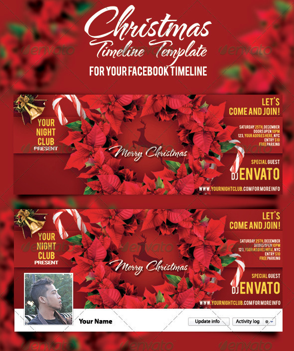 GraphicRiver Christmas Timeline Template 3551731