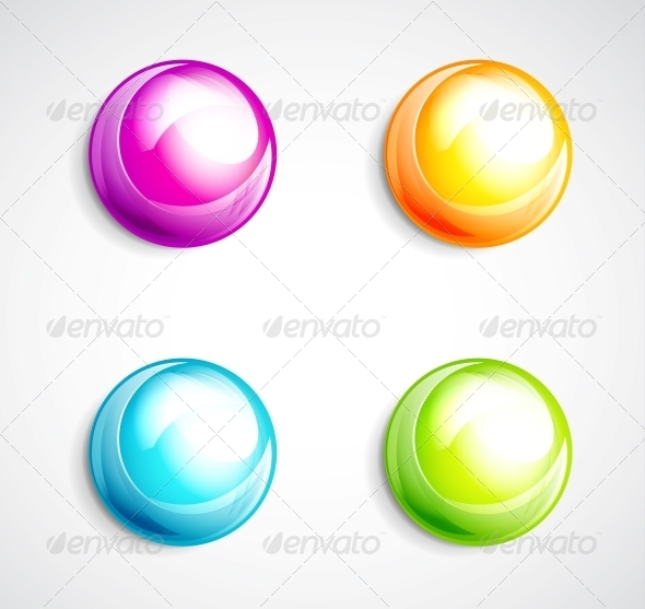 GraphicRiver Colorful Bubble Buttons 3593538