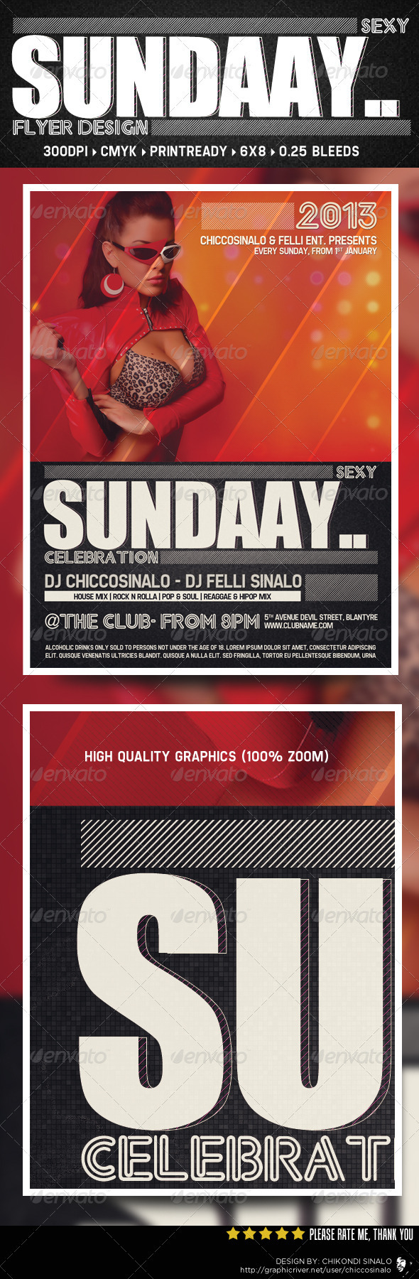 Sexy Sunday Flyer Template - Clubs & Parties Events