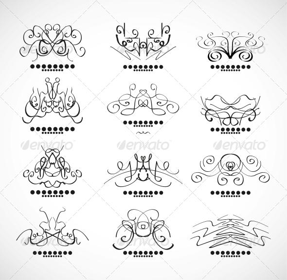 GraphicRiver Calligraphic Decoration Elements for Headline 3593576