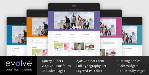 ThemeForest Evolve Responsive Multipurpose HTML theme 3487518