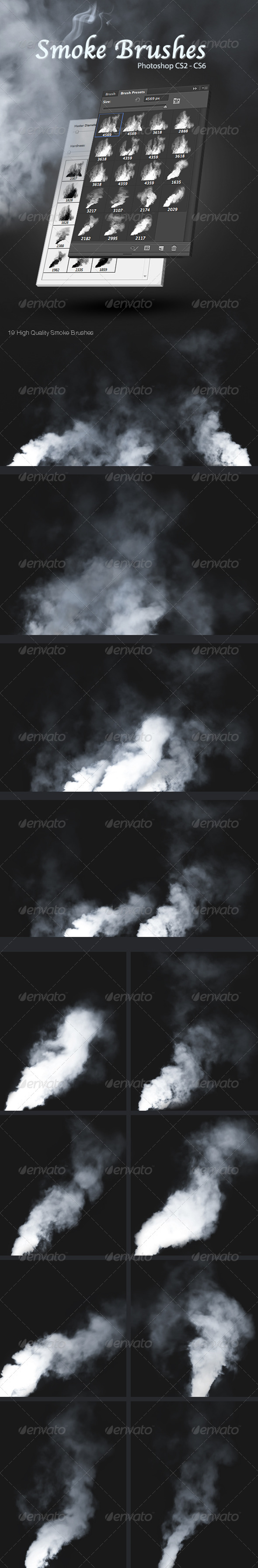 GraphicRiver Smoke Brushes 3594633