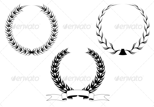 GraphicRiver Set of Laurel Wreaths 3595017