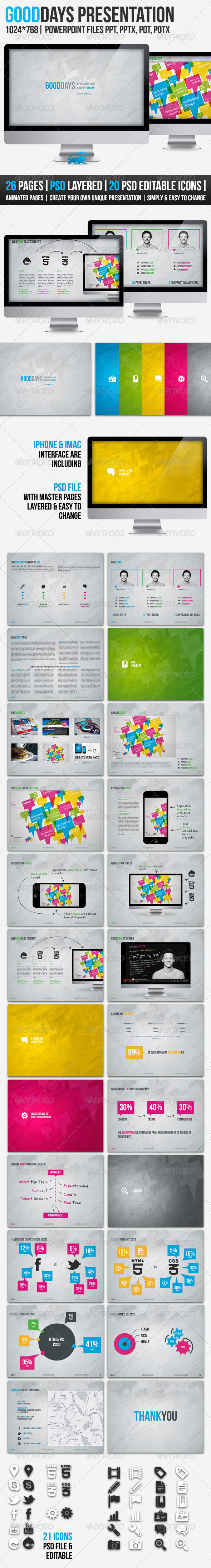 GraphicRiver GOODDAYS 26 Pages POWERPOINT Presentation 3595095
