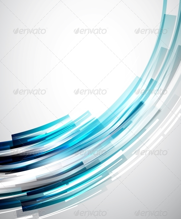 GraphicRiver Flowing Lines Abstract Vector Background 3595273