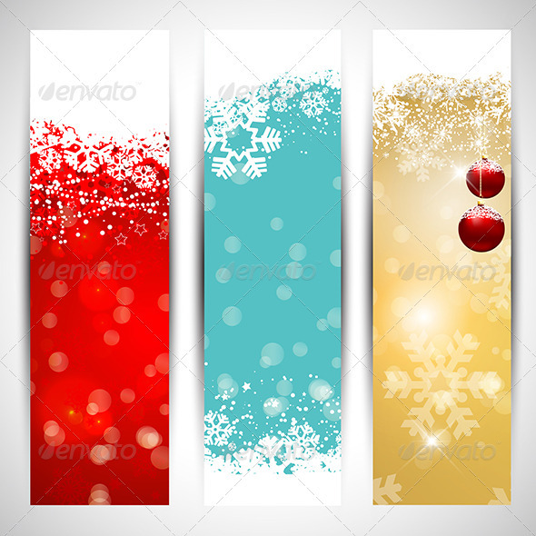GraphicRiver Christmas Banners 3595284
