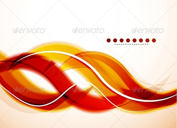 GraphicRiver Modern Detailed Abstract Background Orange Waves 3595301